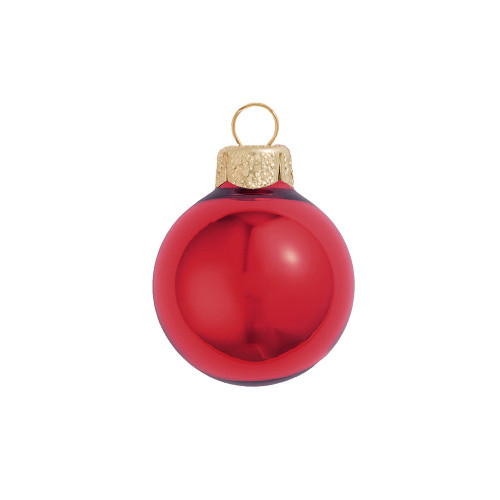 """6ct Shiny Cherry Red Glass Ball Christmas Ornaments 4"""" (100mm) - IMAGE 1"""