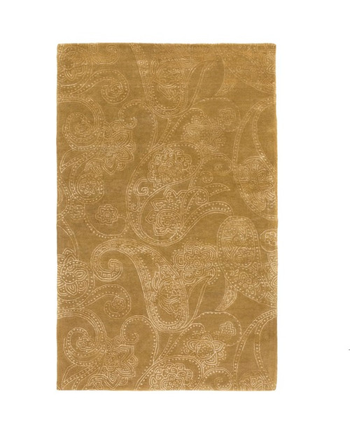 8' x 11' Brown and White Hand Tufted Area Throw Rug - IMAGE 1