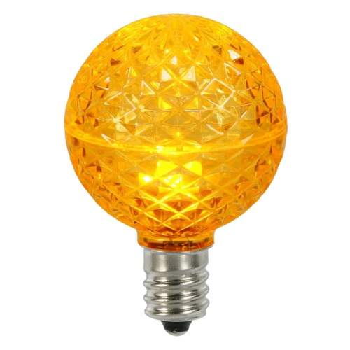 Club Pack of 25 LED G50 Amber Yellow Replacement Christmas Light Bulbs -E17 Base - IMAGE 1