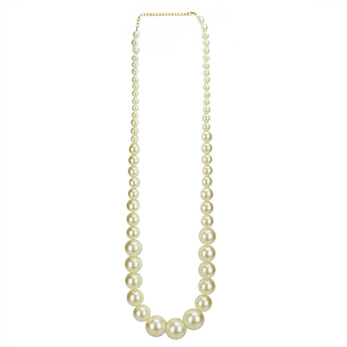 """18.75"""" White Elegance Pearl Beaded Necklace Accessory - IMAGE 1"""