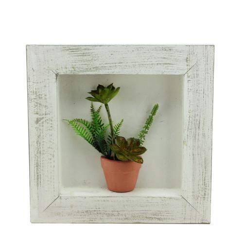 "12"" Artificial Mixed Succulent Plants in a Pot 3-D Wall Art Decoration - IMAGE 1"