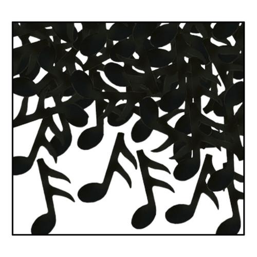 Club Pack of 12 Black Fanci-Fetti Musical Note Confetti Bags 1 oz. - IMAGE 1