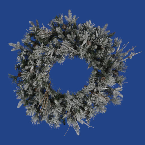 Frosted Fir Artificial Christmas Wreath - 24-Inch, Unlit - IMAGE 1