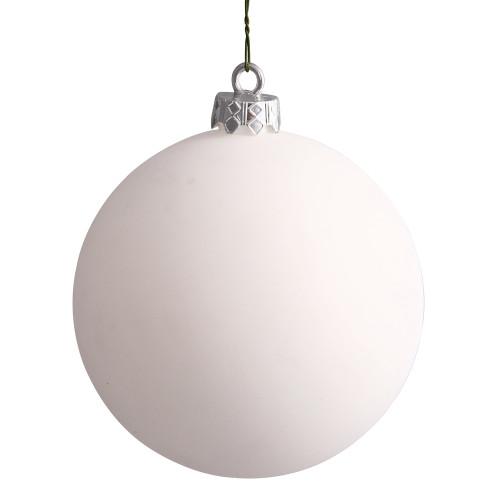 "Matte White Shatterproof Christmas Ball Ornament 15.75"" (400mm) - IMAGE 1"