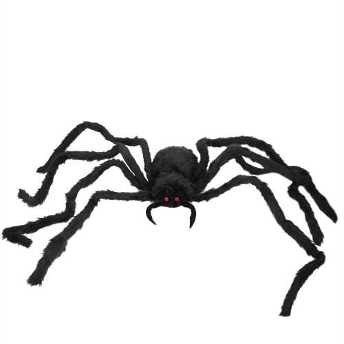 """48"""" Black Spider with LED Flashing Eyes Halloween Decor - IMAGE 1"""
