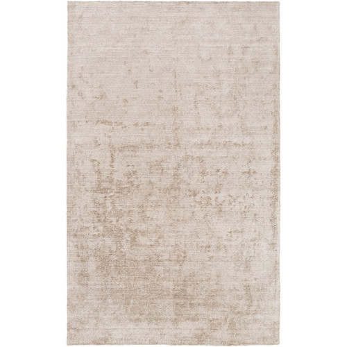 3.5' x 5.5' Beige Rectangular Hand-Knotted Area Throw Rug - IMAGE 1