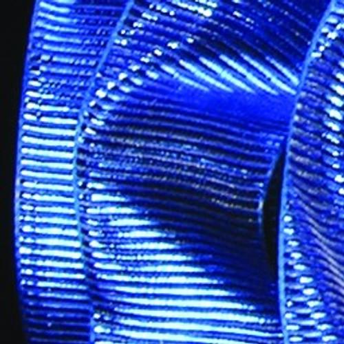 "Blue Metallic Grosgrain Wired Craft Ribbon 1.5"" x 27 Yards - IMAGE 1"