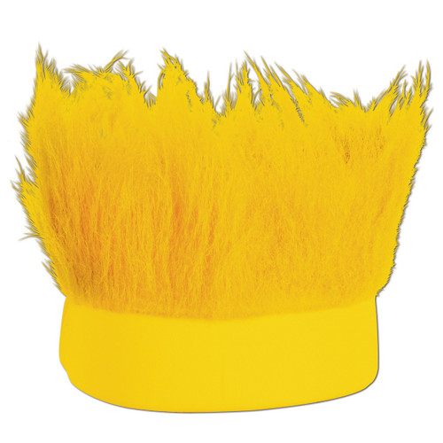 Club Pack of 12 Yellow Decorative Party Hairy Headband Costume Accessory - IMAGE 1