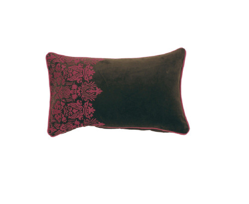 """20"""" Red and Black Rectangular Throw Pillow with Cord Trim Broader - Down Filler - IMAGE 1"""