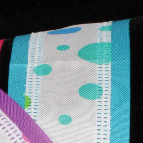 """Blue and White Polka Dot Wired Craft Ribbon 1.5"""" x 40 Yards - IMAGE 1"""