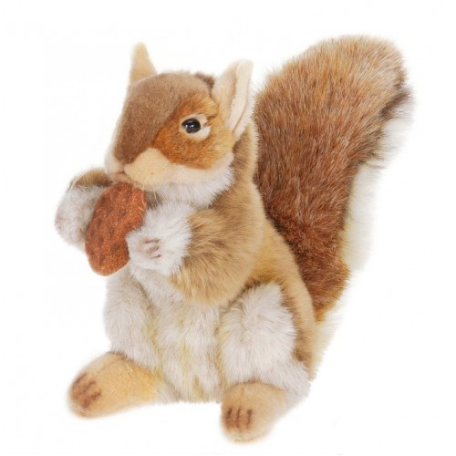 """Set of 3 Lifelike Handcrafted Extra Soft Plush Brown Squirrel with Nut Stuffed Animals 8.75"""" - IMAGE 1"""