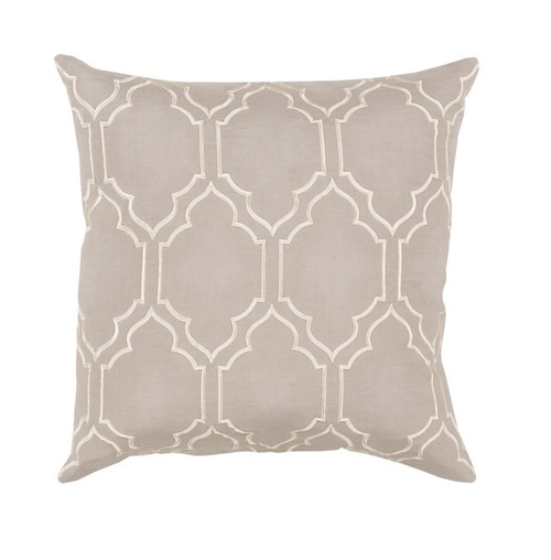 """20"""" Storm Pink and White Trellis Square Throw Pillow - IMAGE 1"""