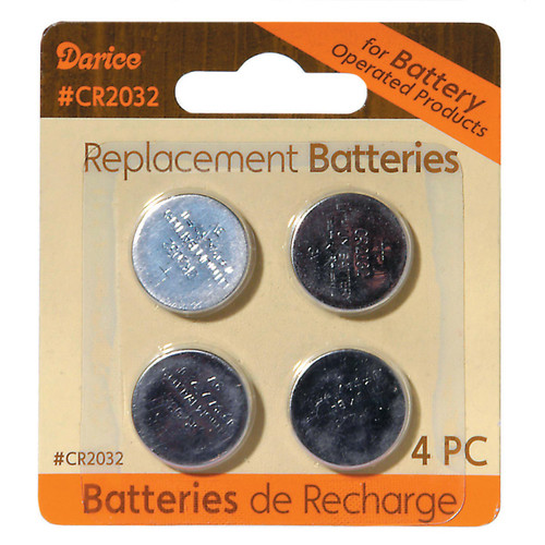 Pack of 4 Lithium Button Cell CR2032 Replacement Batteries - 3 Volts - IMAGE 1