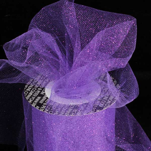 "Purple Contemporary Tulle Craft Ribbon 6"" x 110 Yards - IMAGE 1"