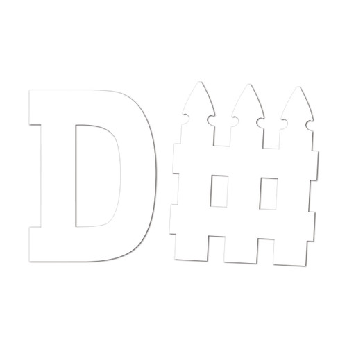 """Club Pack of 12 White Football D-Fence Set Cutouts 21.5"""" - IMAGE 1"""