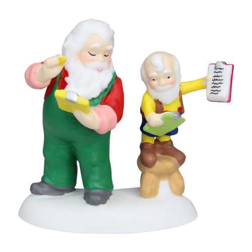 """3.25"""" Green and Yellow Check Double Check Tabletop Figurine - IMAGE 1"""