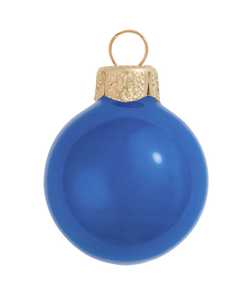 """6ct Delft Blue Pearl Glass Christmas Ball Ornaments 4"""" (100mm) - IMAGE 1"""