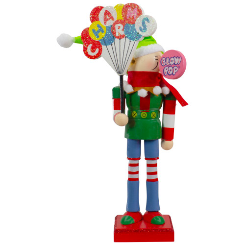 """11"""" Tootsie Roll Charms Blow Pop Wooden Christmas Elf Figure - IMAGE 1"""