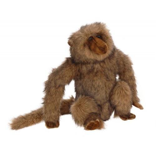 """Set of 2 Lifelike Handcrafted Extra Soft Plush Sitting Baboon Stuffed Animals 12.5"""" - IMAGE 1"""