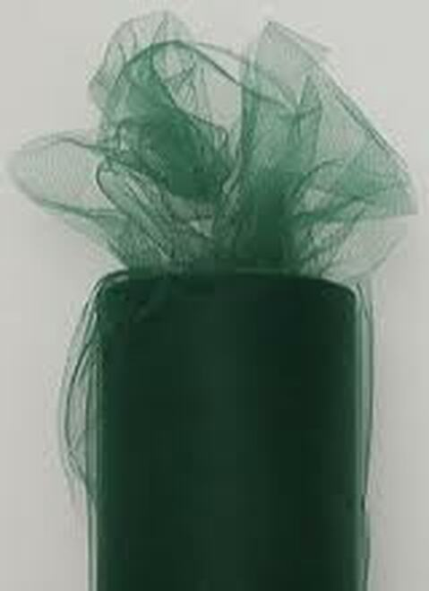 "Green Contemporary Tulle Craft Ribbon 6"" x 275 Yards - IMAGE 1"