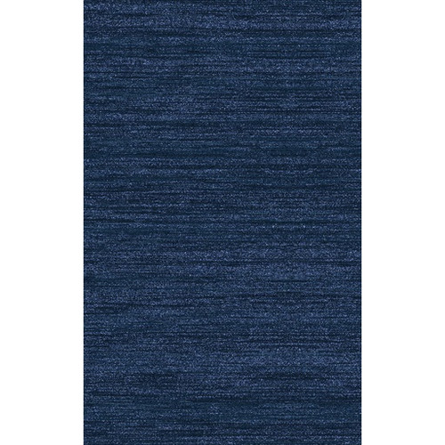 5' x 8' Blue Rectangular Hand-Knotted Area Throw Rug - IMAGE 1