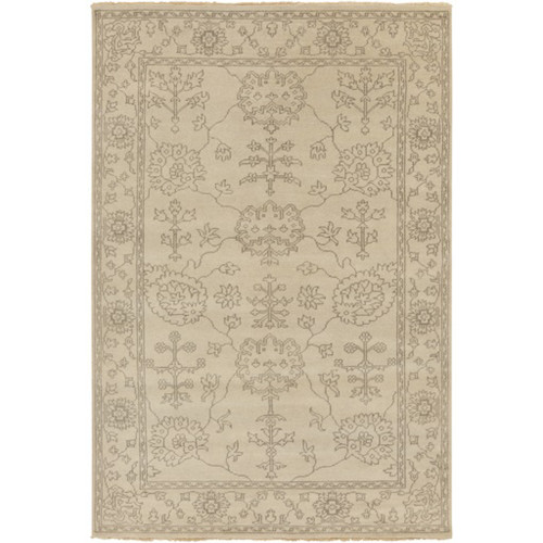 5.5' x 8.5' Brown and Gray Contemporary Hand Knotted Area Throw Rug - IMAGE 1