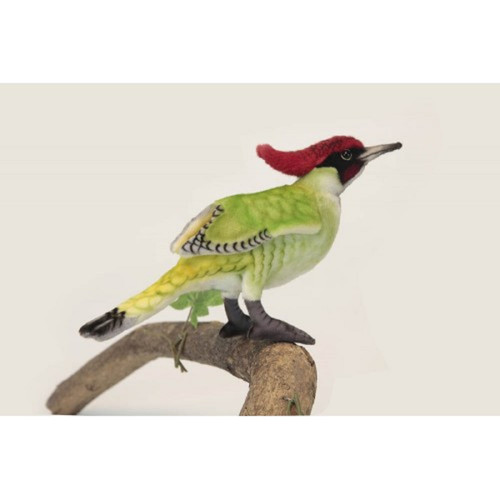 "Set of 3 Green and Red Handcrafted Soft Plush Woodpecker Stuffed Animals 9.75"" - IMAGE 1"