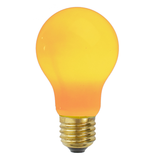 Pack of 25 Opaque Yellow E26 Base Replacement A19 Light Bulbs - 25 Watts - IMAGE 1