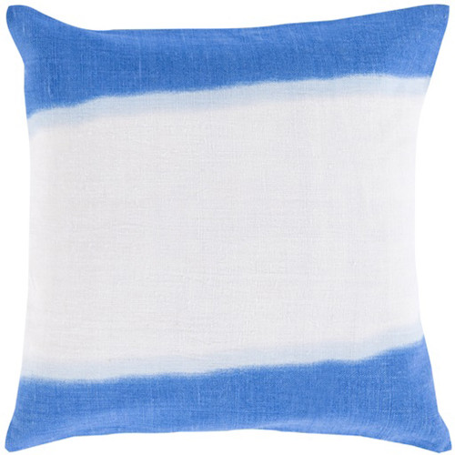 "18"" Blue and White Double Dip Decorative Throw Pillow - IMAGE 1"