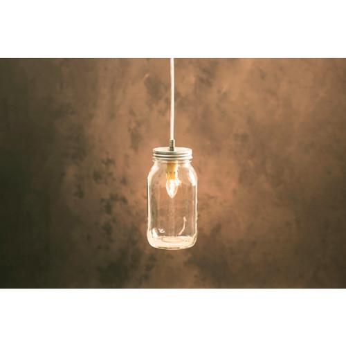 8' Cleveland Vintage Lighting Drip Candlestick Inside Canning Jar Light Bulb Lamp Adapter - IMAGE 1