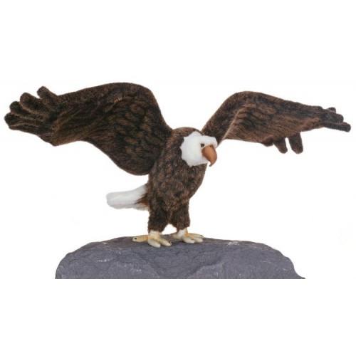 """27.25"""" Lifelike Handcrafted Extra Soft Plush Eagle Bird Stuffed Animal - IMAGE 1"""