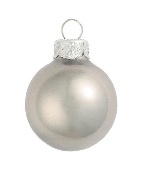 "4ct Silver Metallic Glass Christmas Ball Ornaments 4.75"" (120mm) - IMAGE 1"