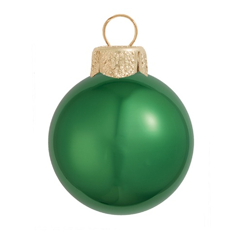 "4ct Shiny Green Xmas Glass Ball Christmas Ornaments 4.75"" (120mm) - IMAGE 1"