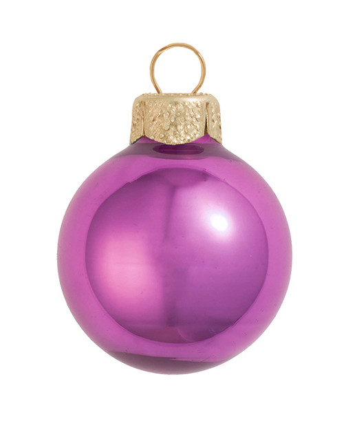 """28ct Dusty Pink Pearl Glass Christmas Ball Ornaments 2"""" (50mm) - IMAGE 1"""