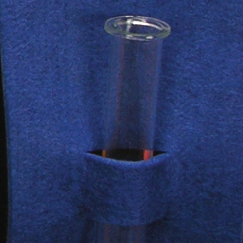 """Club Pack of 16 Bold Blue Felt with Glass Flower Vases 4"""" - IMAGE 1"""