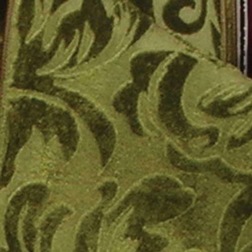 """Hunter Green Floral Wired Craft Ribbon 2.5"""" x 20 Yards - IMAGE 1"""