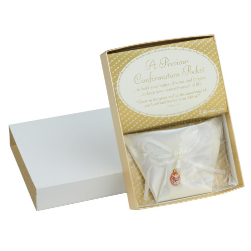 Pack of 12 Religious White Confirmation Pockets with Dove Pendants #45653 - IMAGE 1