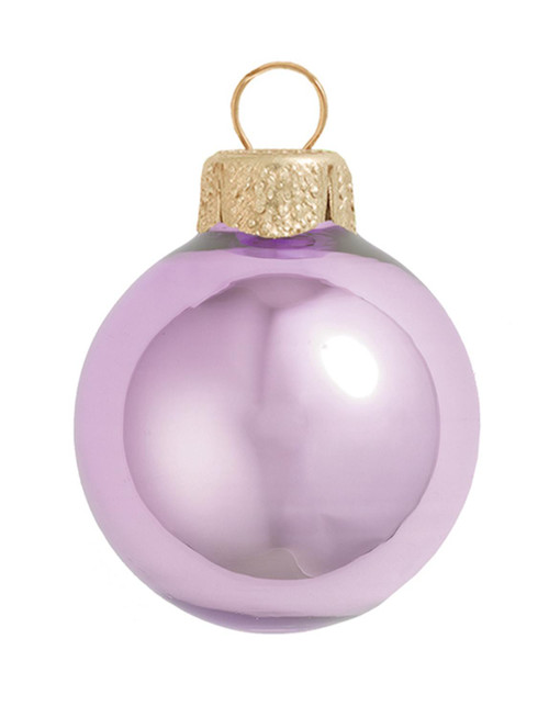"""12ct Soft Lavender Pearl Glass Christmas Ball Ornaments 2.75"""" (70mm) - IMAGE 1"""