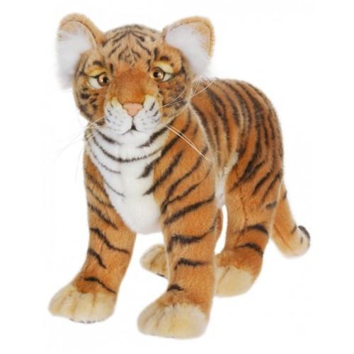 "Set of 2 Lifelike Handcrafted Extra Soft Plush Standing Tiger Cub Stuffed Animals 13.25"" - IMAGE 1"