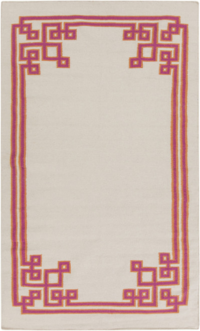 2' x 3' Pink and Lava Gray Hand Woven Area Throw Rug - IMAGE 1