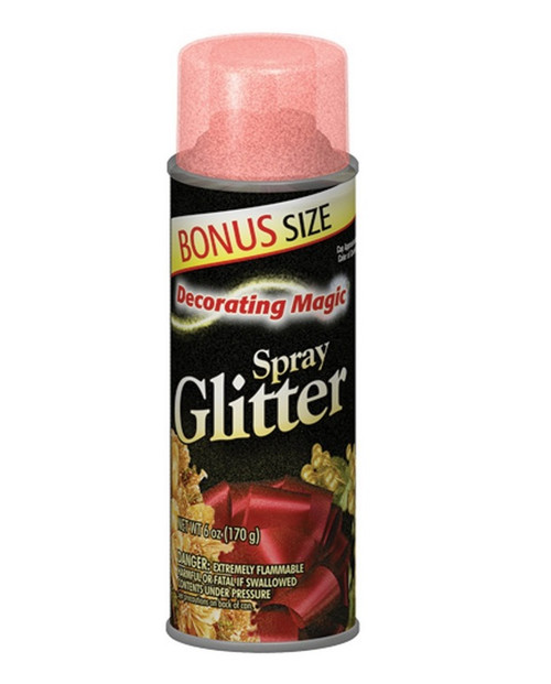 Decorating Magic Red Glitter Christmas Spray - 6 Ounces - IMAGE 1