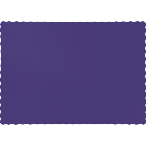 "Club Pack of 600 Purple Solid Disposable Table Placemats 13.5"" - IMAGE 1"