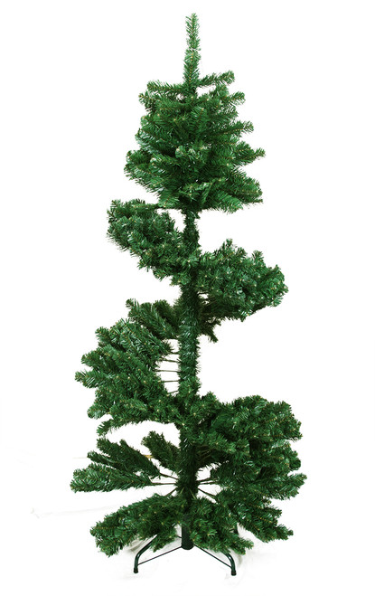 5.5' Green Slim Spiral Pine Artificial Christmas Tree - Unlit - IMAGE 1