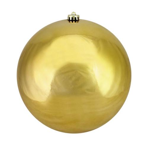 "Vegas Gold Shiny Shatterproof Christmas Ball Ornament 10"" (250mm) - IMAGE 1"