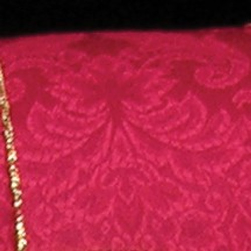 """Red and Gold Damask Floral Fete Wired Craft Ribbon 3"""" x 20 Yards - IMAGE 1"""