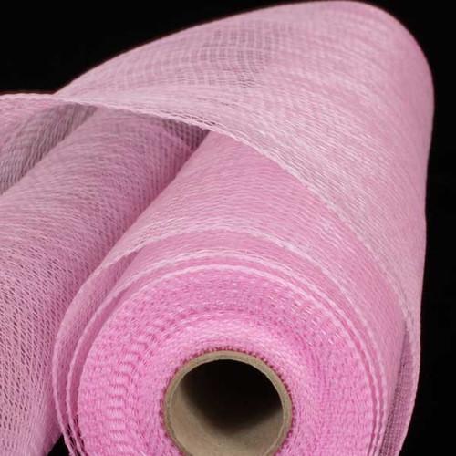 """Pastel Pink Decorating Mesh Craft Ribbon 21"""" x 60 Yards - IMAGE 1"""