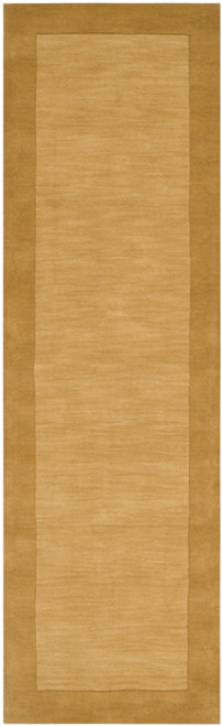 2.5' x 8' Tawny Brown and Sand Beige Hand Loomed Rectangular Area Throw Rug Runner - IMAGE 1