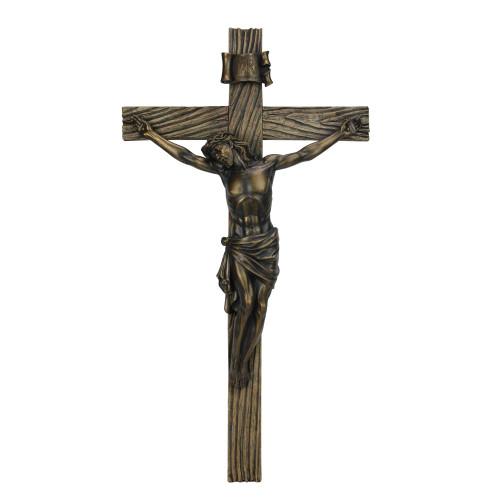 "20"" Joseph's Studio Religious Antique Gold Crucifix Wall Cross - IMAGE 1"