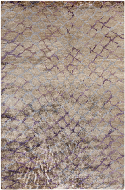 8' x 11' Gray Contemporary Hand-Knotted Area Throw Rug - IMAGE 1