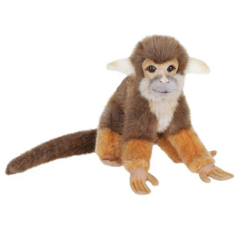 """Set of 4 Brown and Orange Handcrafted Squirrel Monkey Stuffed Animals 7.5"""" - IMAGE 1"""